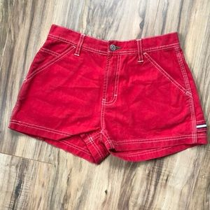 NWT Tommy Jeans Red Jean/Canvas Cargo Shorts 5